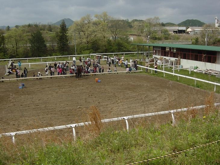 開始前の馬場風景