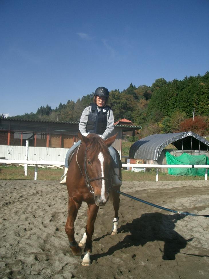 乗馬教室2014秋 第二日目 046