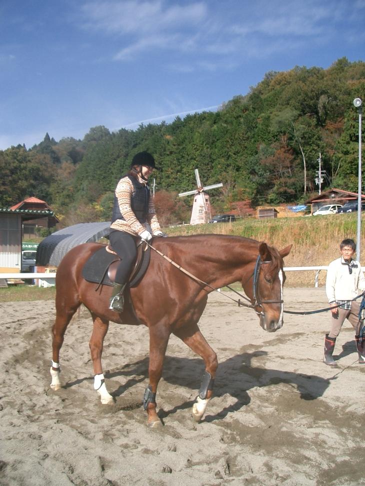 乗馬教室2014秋 第二日目 062